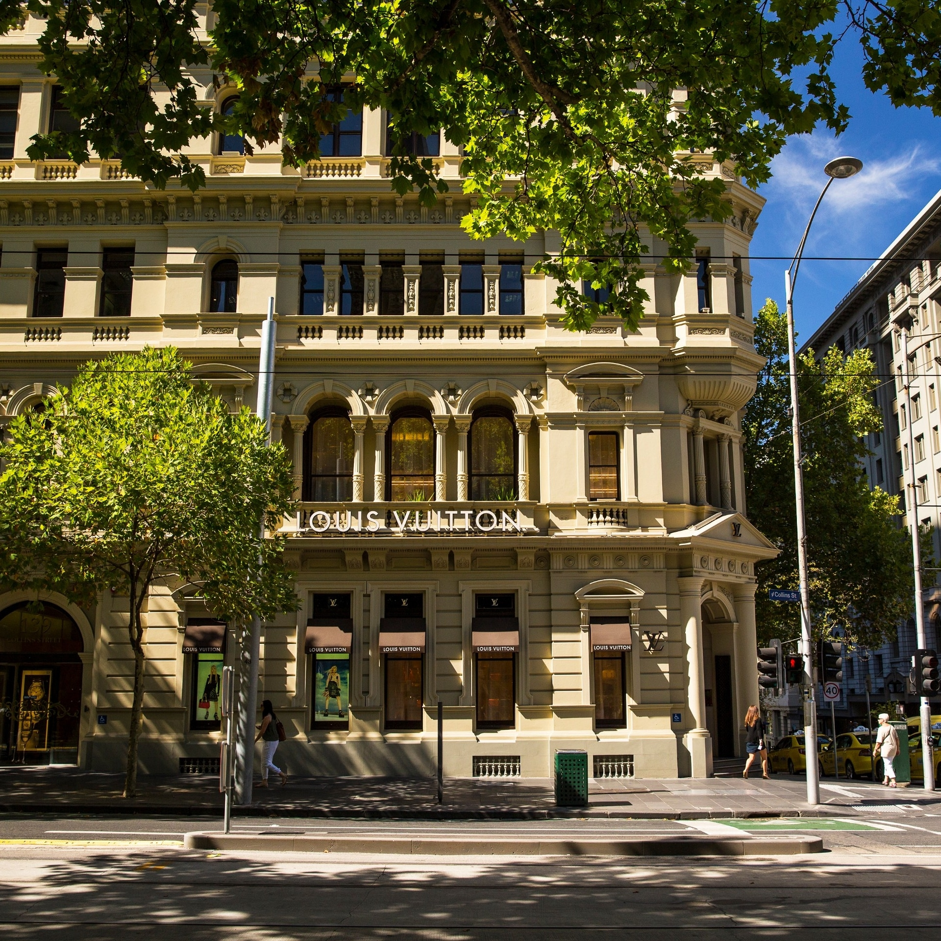Louis Vuitton boutique on Collins Street in Melbourne © Visit Victoria