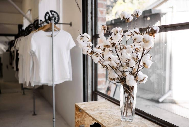 Sustainable T-shirts on display at Citizen Wolf in Sydney © Jason de Plater