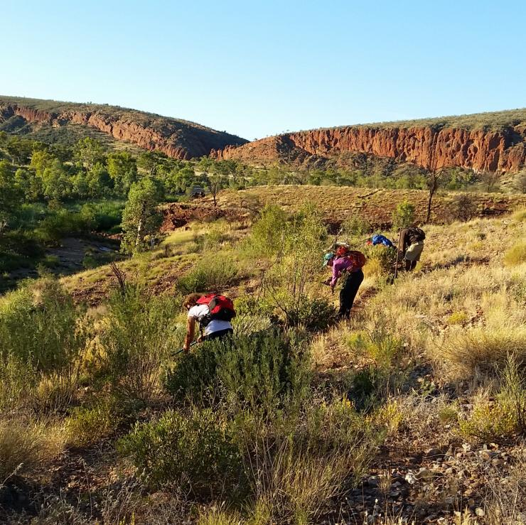 Volunteers working on maintaining the Larapinta Trail © Trek Larapinta