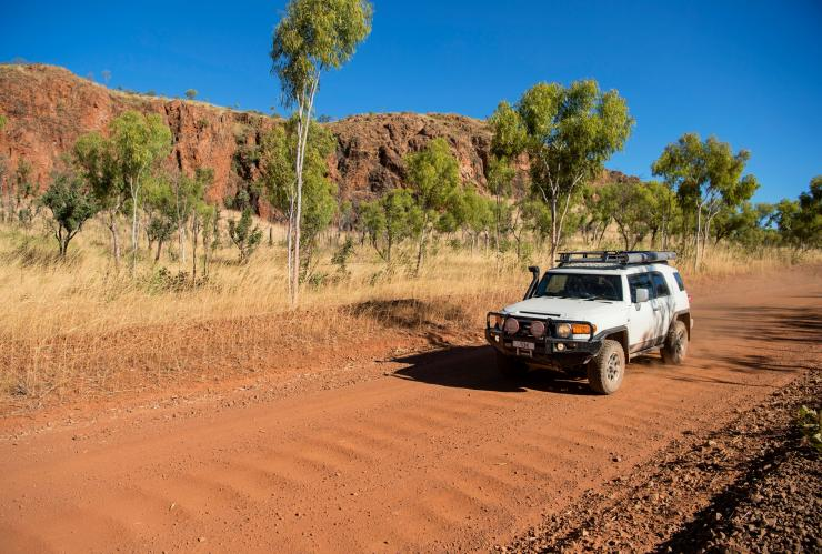Four-wheel driving through Keep River National Park © Tourism NT/Shaana McNaught