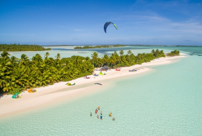 Kitesurfing, West Island, Cocos (Keeling) Islands © Cocos Keeling Islands Tourism Association
