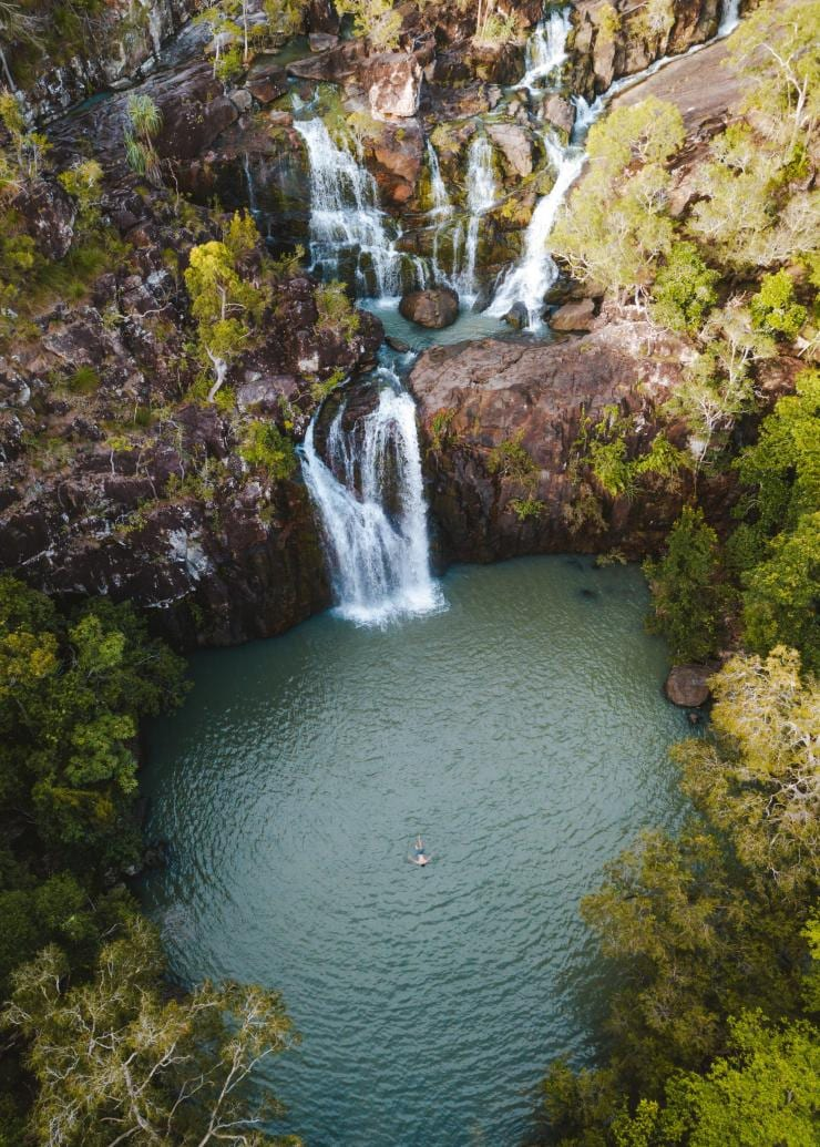 Swimming in Cedar Creek Falls in the Whitsundays © Tourism and Events Queensland