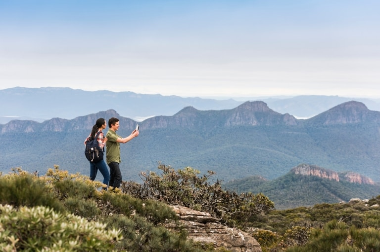 Aboriginal guided hike on Mount William, Grampians National Park, VIC © Rob Blackburn