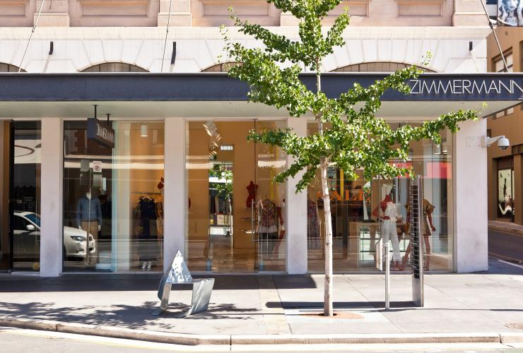 Zimmermann storefront on Rundle Street in Adelaide © South Australian Tourism Commission