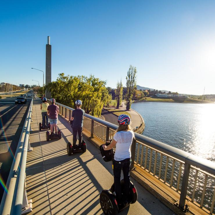 Segway tour around Lake Burley Griffin in Canberra © VisitCanberra