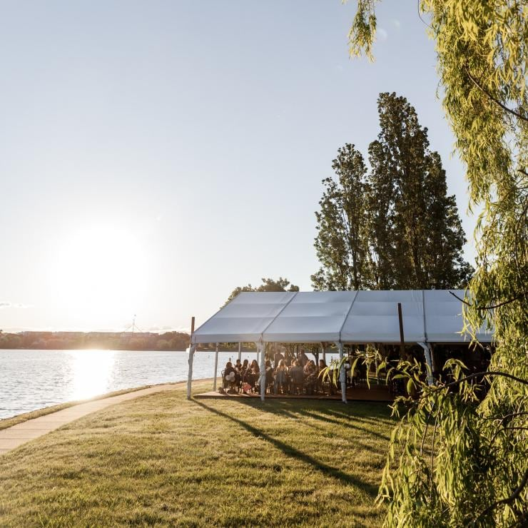 Sunset at Armada Outdoor Bar in Canberra © The Boat House