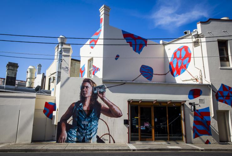 Street art on Church Street, off King Street, Newtown, Sydney, NSW © Destination NSW