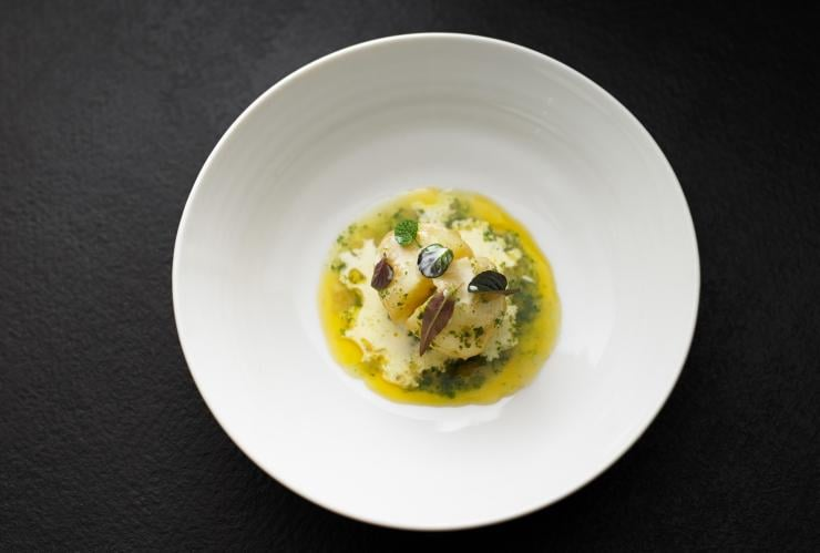Minted Potato dish served at Attica restaurant in Melbourne © Colin Page