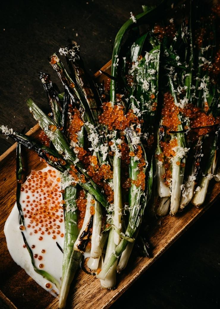Charred vegetables at Firedoor restaurant © Nikki To