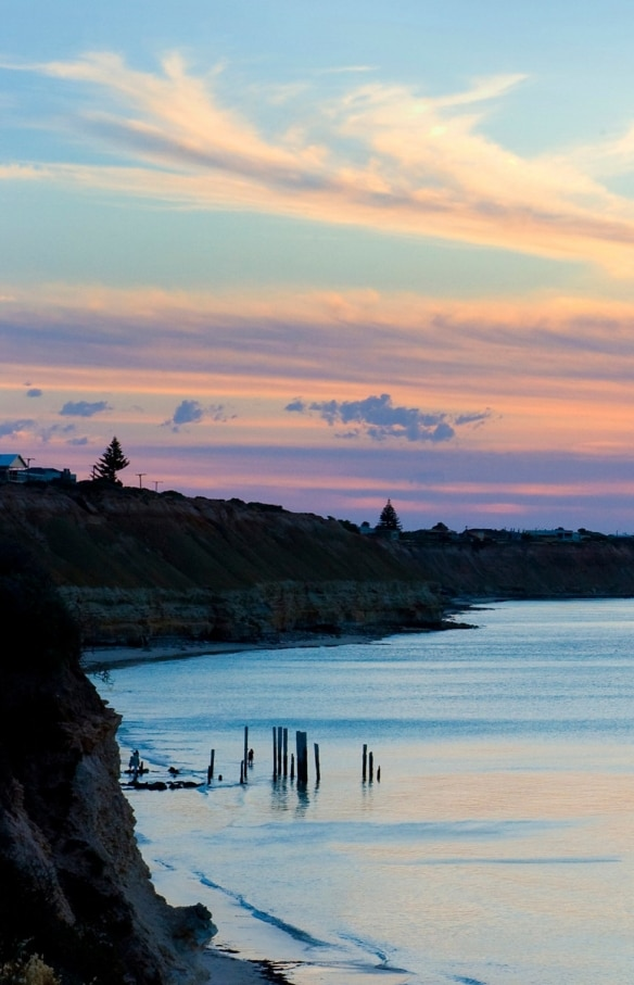 Sunset over the beach in Port Willunga © Star of Greece
