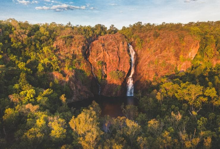 Wangi Falls at Sunset, Litchield National Park, NT © Tourism NT - Jackson Groves