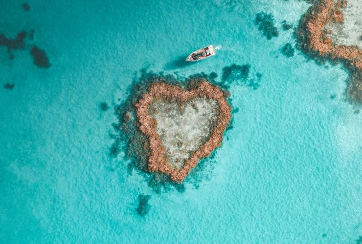 Heart Reef, Whitsundays, QLD © Salty Wings