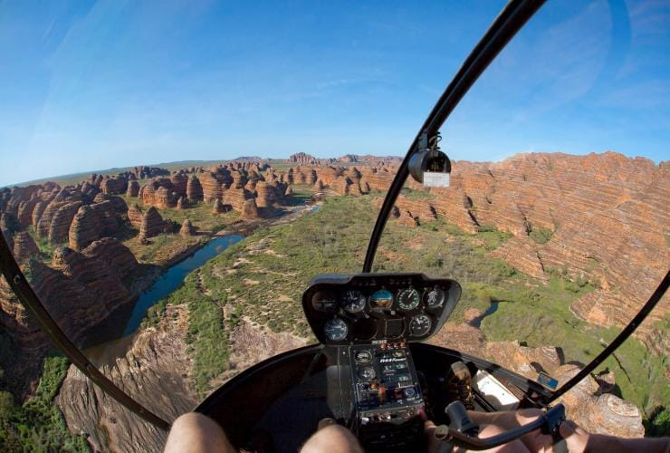 Helicopter flying above the Bungle Bungles © Ben Knapinski