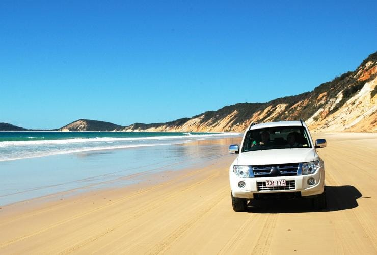 Rainbow Beach with 4WD, Sunshine Coast, QLD © Tourism and Events Queensland