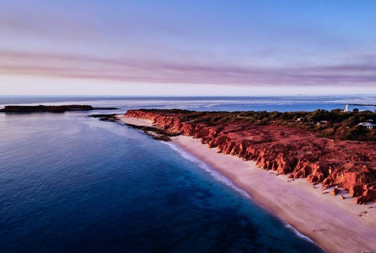 Aerial view of Western Beach, Kooljaman at Cape Leveque at sunset © Tourism Western Australia