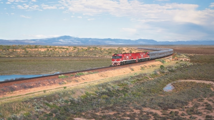 The Ghan, Port Augusta, SA © Journey Beyond