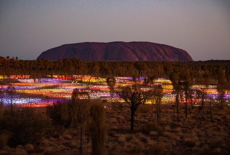 Field of Light, Uluṟu-Kata Tjuta National Park, NT © Tourism Australia