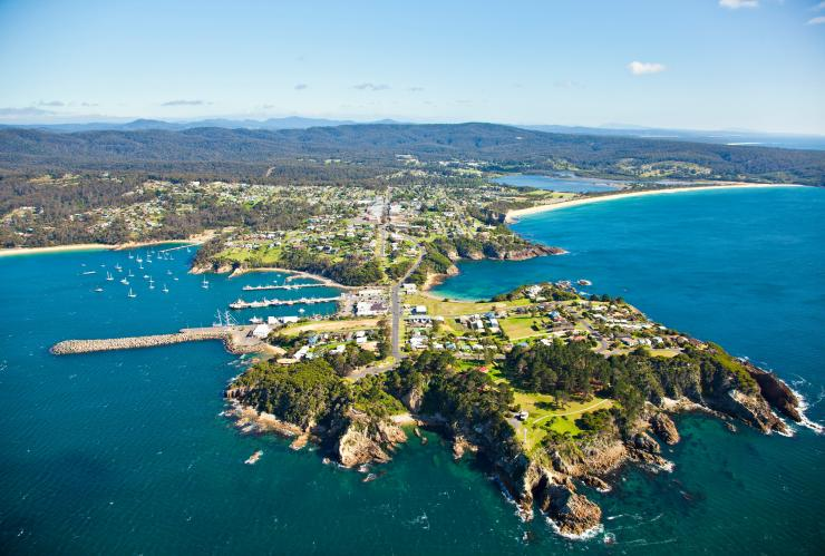 Aerial of Eden in New South Wales © Sapphire Coast