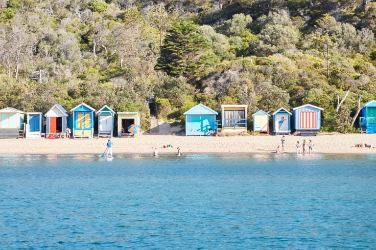 Bathing Boxes, Mornington Beach, Mornington Peninsula, VIC © ewenbell.com