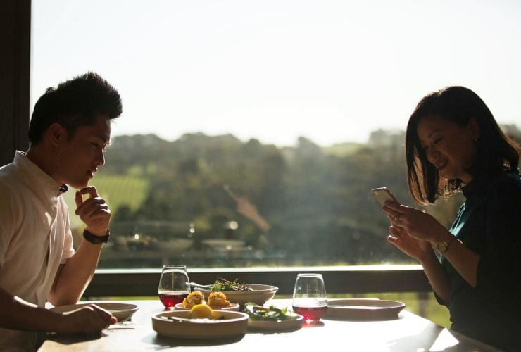 Couple at Rare Hare restaurant © Visit Victoria