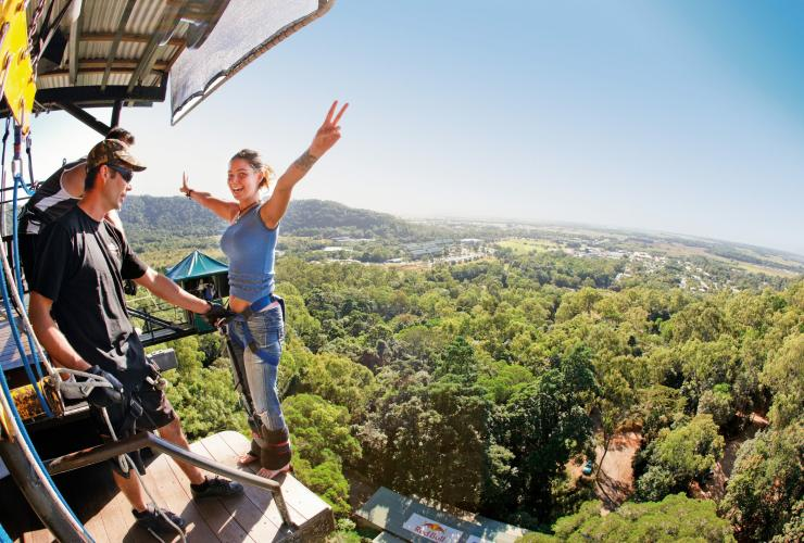 AJ Hackett bungy jumping centre, Cairns, QLD © Tourism and Events Queensland