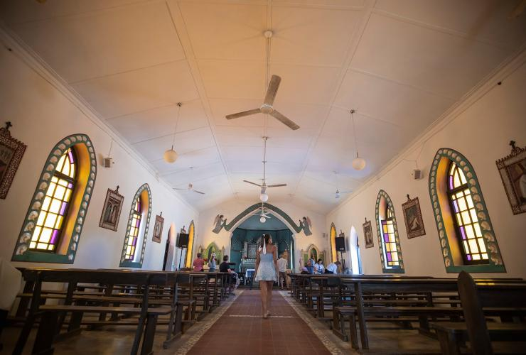 Sacred Heart Church, Beagle Bay, WA © Michael Baldwin, Tourism Western Australia