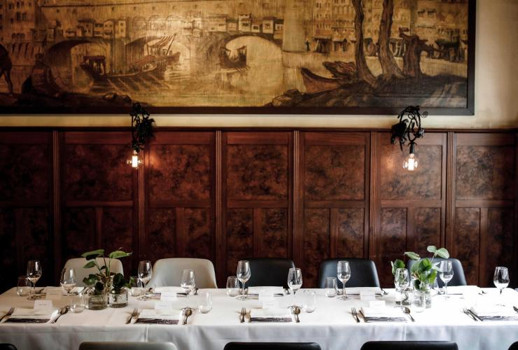 Dining room at Florentino, Melbourne, Victoria © Grossi Restaurants