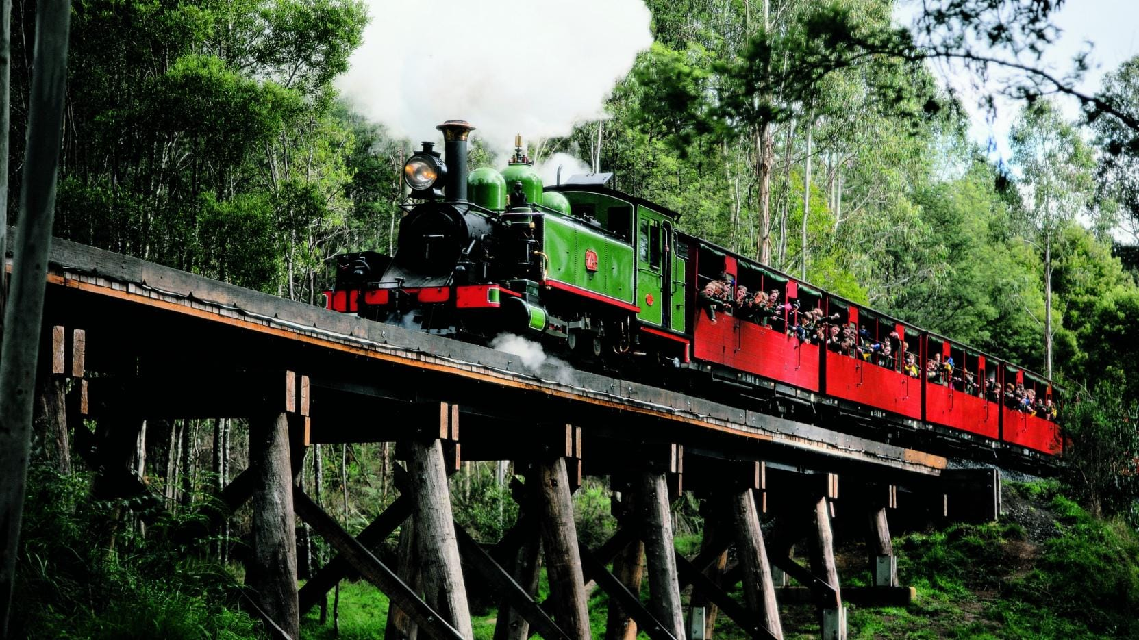 Puffing Billy Railway, Dandenong Ranges, VIC. © Puffing Billy, Dandenong Ranges