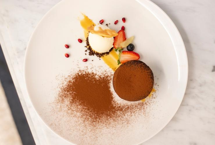 Dessert served at Tattersalls Hotels in Armidale, New South Wales © Destination NSW