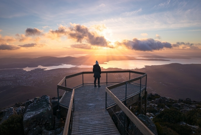 Mount Wellington, Hobart, TAS © Alastair Bett, Events Tasmania
