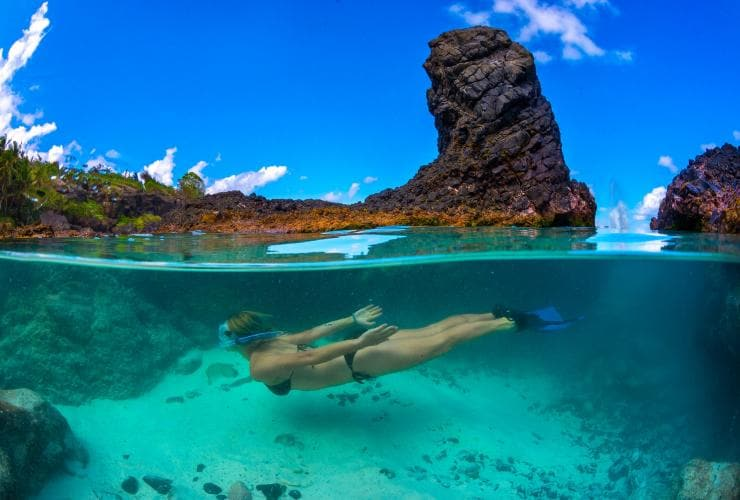 Snorkelling at Dolly beach, Christmas Island © Tourism Australia
