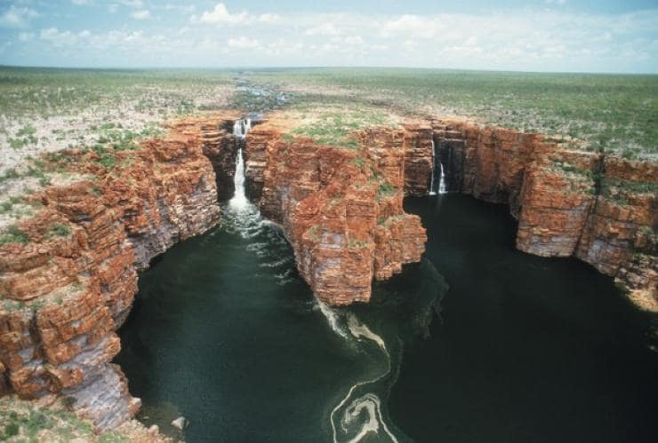 King George Falls, on the north Kimberley coast, WA © Tourism Western Australia