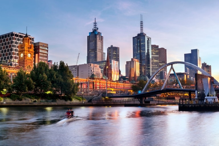 Melbourne Skyline from Southbank, Melbourne, VIC © Roberto Seba