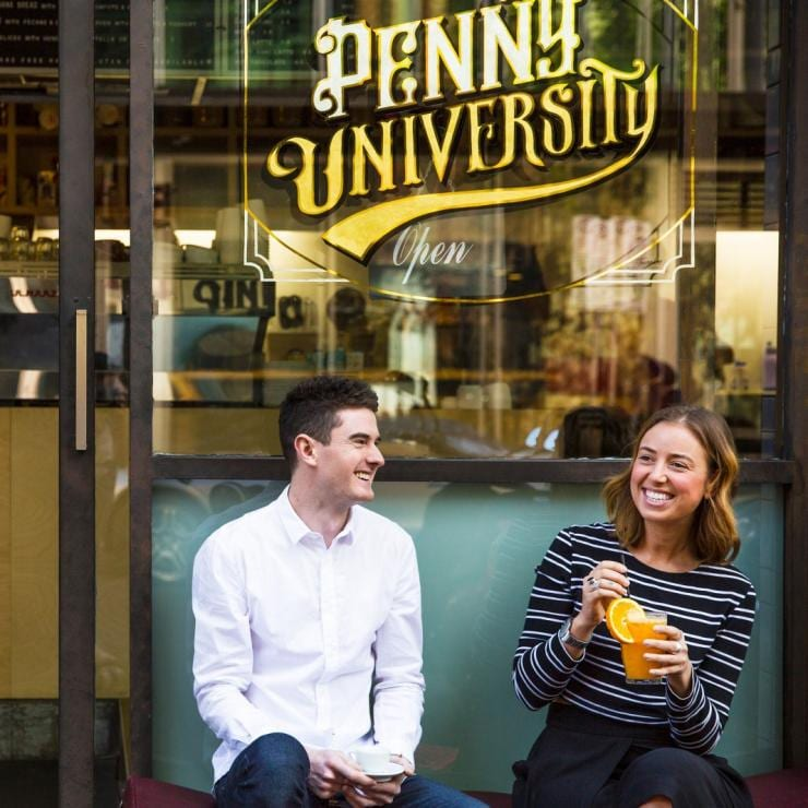 Couple at Penny University in Adelaide © South Australian Tourism Commission