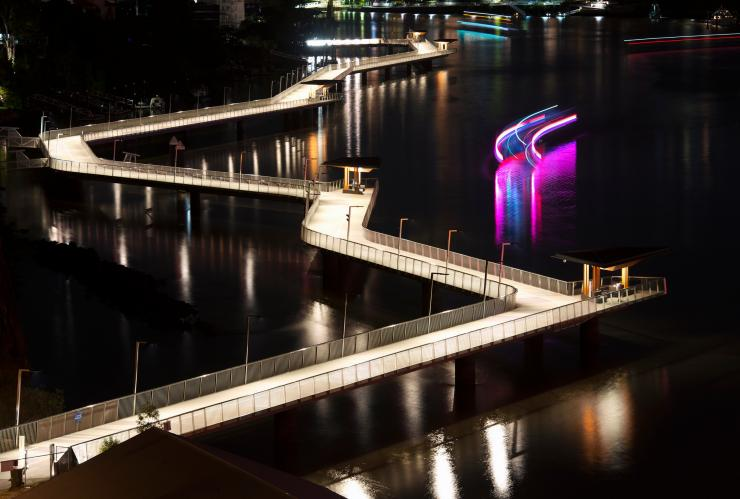 Brisbane Riverwalk, Brisbane, QLD © Robert Downer, Visit Brisbane