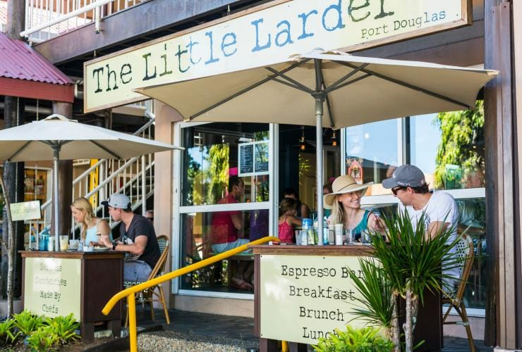 Diners at The Little Larder in Port Douglas © Tourism and Events Queensland/Andrew Watson