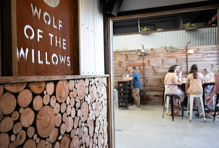 Interior of the taproon at Wolf of the Willows in Melbourne © Karen Wilson Photography