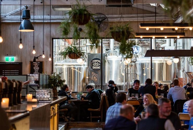Interior shot of Stomping Ground Brewery Co. in Collingwood © Stomping Ground Brewery Co.
