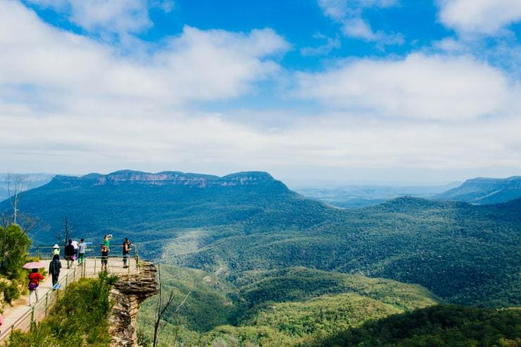 Lookout, Blue Mountains National Park, NSW © Tourism Australia