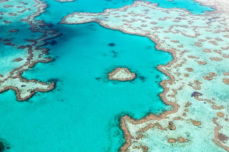 Heart Reef, Great Barrier Reef, QLD © Tourism Australia