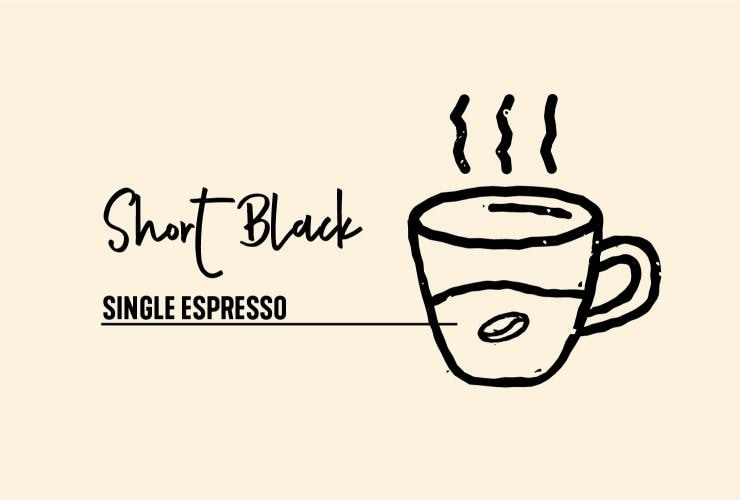 Drawing of short black coffee © Tourism Australia