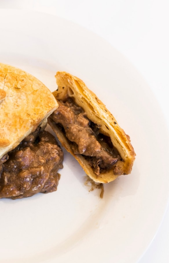Kangaroo pie from Mocka's Pies in Port Douglas © Tourism and Events Queensland/Andrew Watson