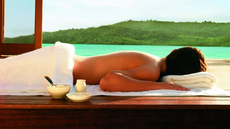 Massage with a view, qualia, Great Barrier Reef, QLD © Qualia Resort