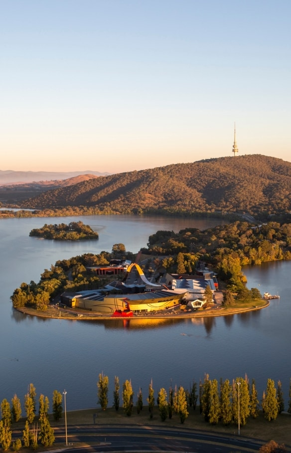 Aerial view of National Museum of Australia, Canberra, ACT © National Museum of Australia