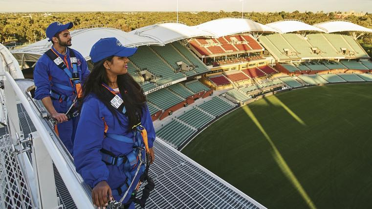 Roof Climb at Adelaide Oval, Adelaide, South Australia © Copyright SATC