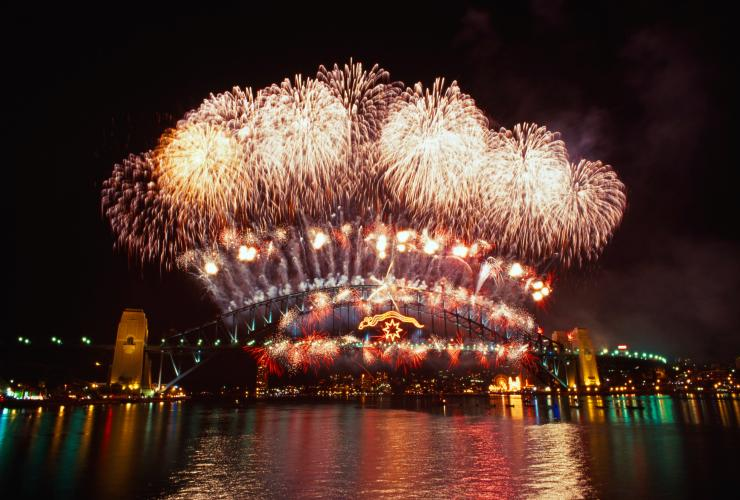 New Years Eve fireworks, Sydney, NSW © Tourism Australia