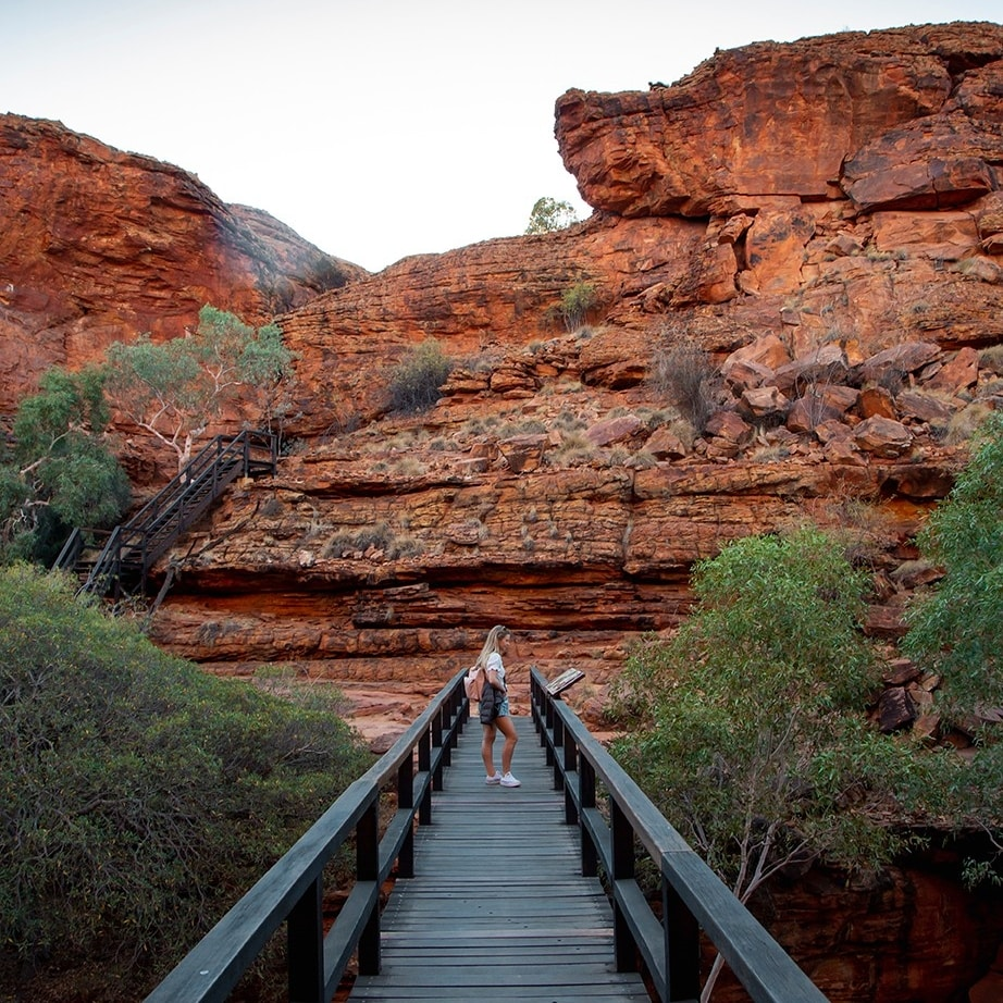 Kings Canyon Rim Walk, Kings Canyon, NT © Tourism Australia