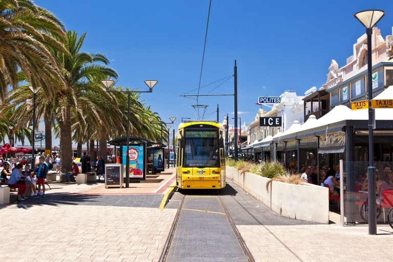 Tram, Jetty Rd, Adelaide, South Australia © South Australian Tourism Commission