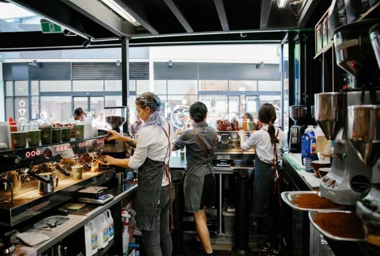 Baristas working at Campos Coffee, Brisbane, QLD © Campos Coffee