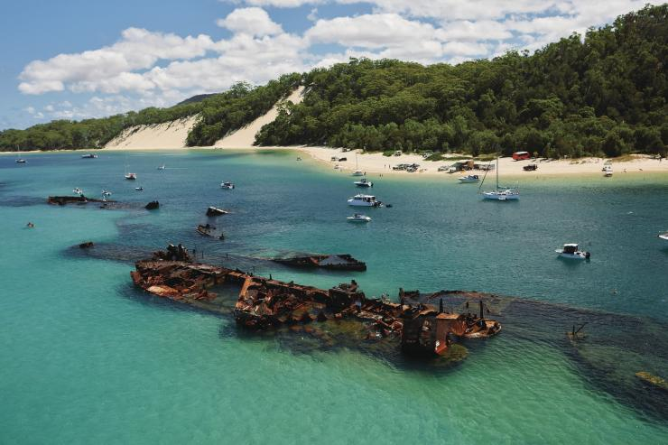 Tangalooma Wrecks, Moreton Island, QLD © Tourism and Events Queensland